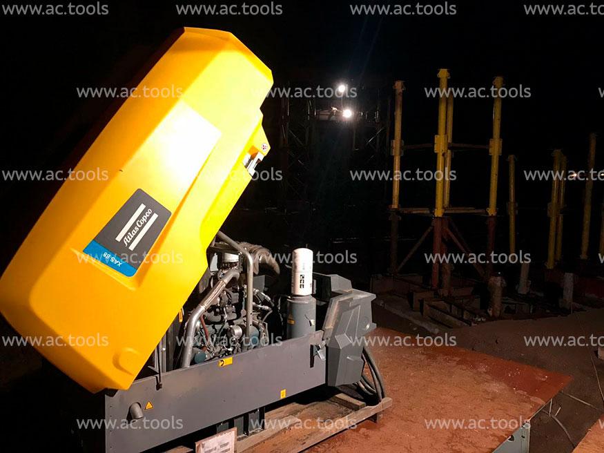 Atlas Copco XAS 88 на строительстве Домодедовского путепровода