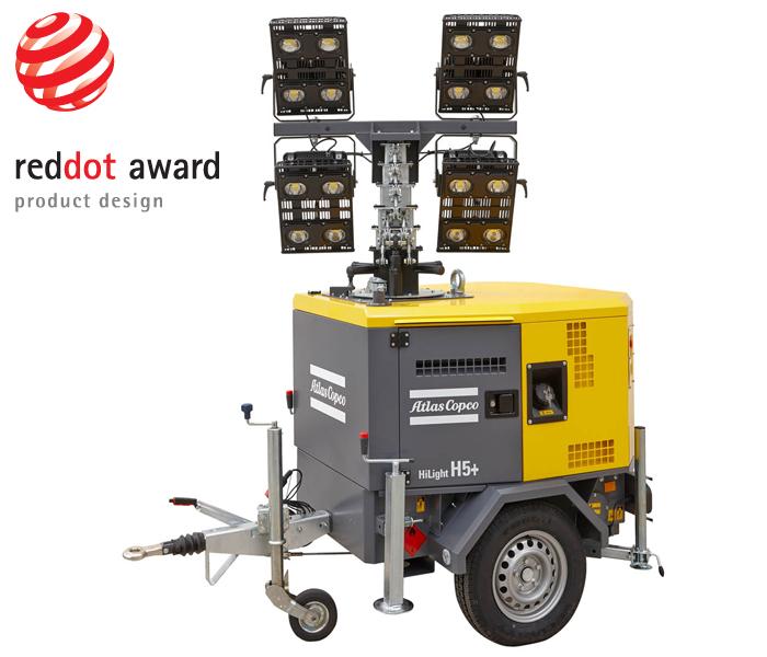 осветительная мачта «Атлас Копко» получили престижную награду в области дизайна Red Dot Design Award